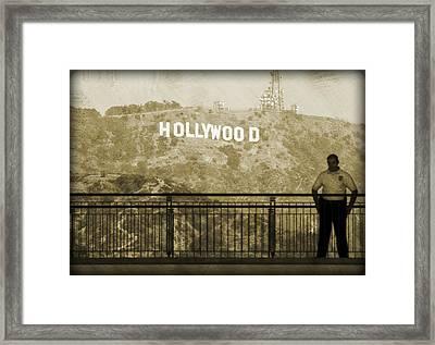 Guarding Hollywood Framed Print by Ricky Barnard
