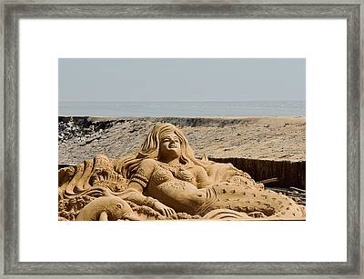 The Little Mermaid By The Sea Framed Print