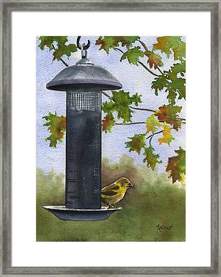 Guarding The Loot Framed Print by Marsha Elliott