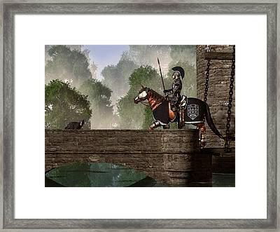Guards Of The Forgotten Gate Framed Print by Daniel Eskridge