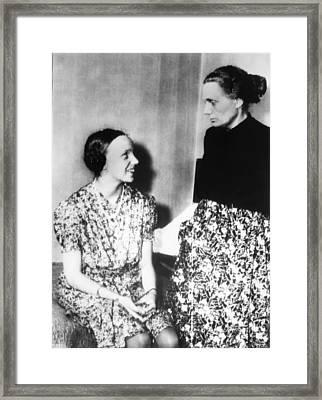 Gudrun Himmler, Daughter Of Heinrich Framed Print by Everett