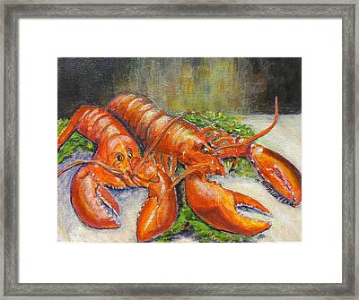 Guess Whose Coming To Dinner Framed Print by Maureen Pisano