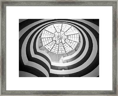Guggenheim Museum Bw200 Framed Print by Scott Kelley