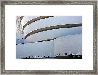 Guggenheim Museum Framed Print by David Bearden