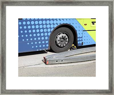 Guided Busway Wheel Mechanism Framed Print by Martin Bond