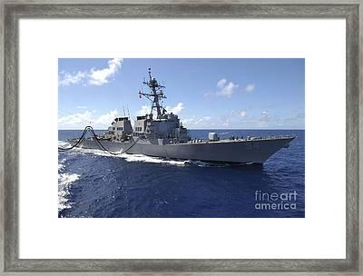 Guided Missile Destroyer Uss Curtis Framed Print
