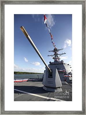 Guided-missile Destroyer Uss Jason Framed Print by Stocktrek Images