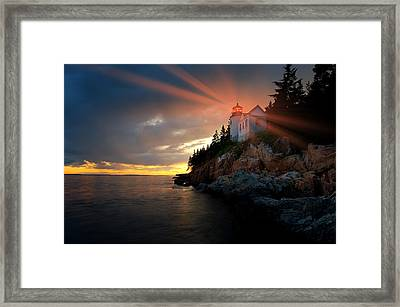 Guiding Light Framed Print by Bernard Chen
