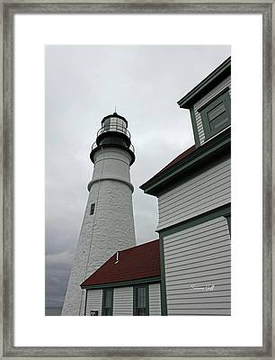 Guiding Light Framed Print by Suzanne Gaff