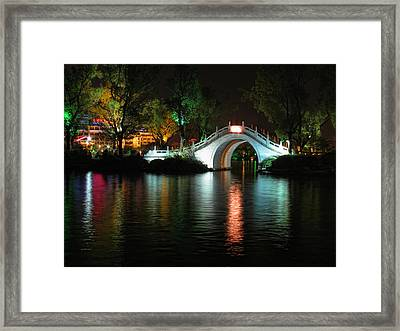 Guilin Bridge Framed Print