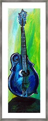 Framed Print featuring the painting Guitar 1 by Amanda Dinan