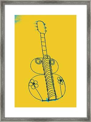 Guitar 2 Framed Print by Mauro Celotti