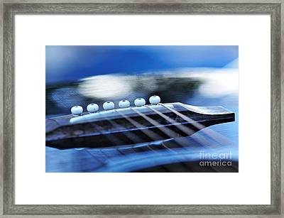 Guitar Abstract 4 Framed Print by Kaye Menner