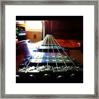 #guitar #awesome #guitars Framed Print