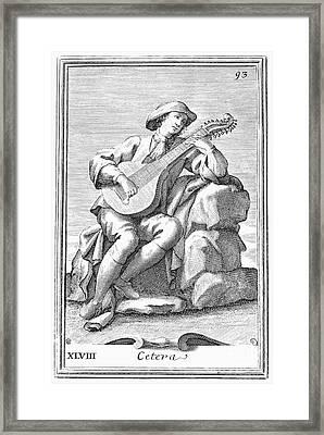 Guitar: Cittern, 1723 Framed Print by Granger