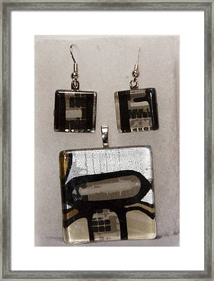 Framed Print featuring the jewelry Guitar Glass Tile Set by Darleen Stry