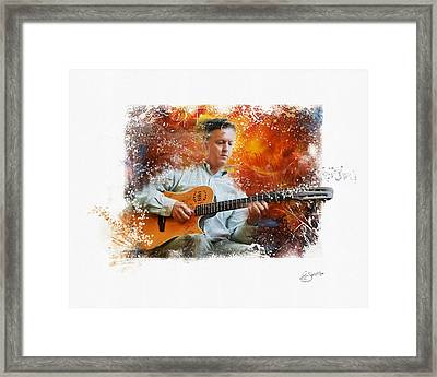 Guitar Jazz Framed Print