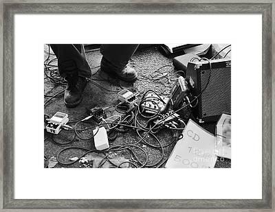 Guitar Man Framed Print by Dean Harte