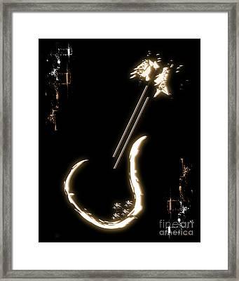 Guitar Music Poster Framed Print
