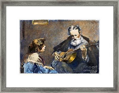 Guitar Player Framed Print by Granger