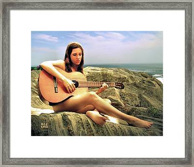 Guitar Player Framed Print by Richard Stevens