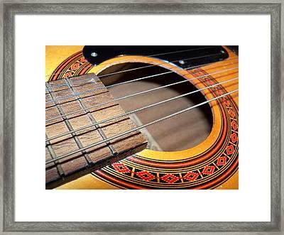 Guitar Portrait Framed Print