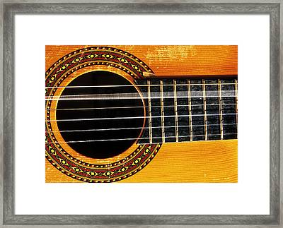 Guitar String Vibrating Framed Print by Andrew Lambert Photography
