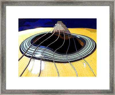 Guitar Warp Framed Print by Anne Mott