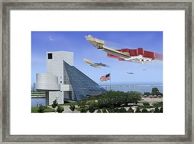 Guitar Wars At The Rock Hall Framed Print