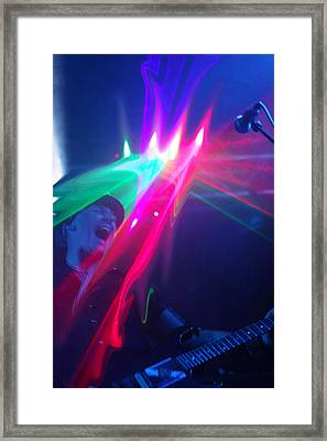 Guitarist On Fire Framed Print by James Hammen