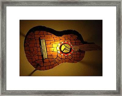 Guitarra Framed Print by Sonia Ruiz