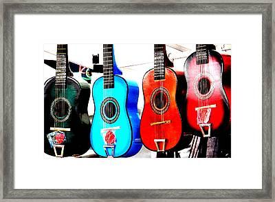 Guitars Framed Print
