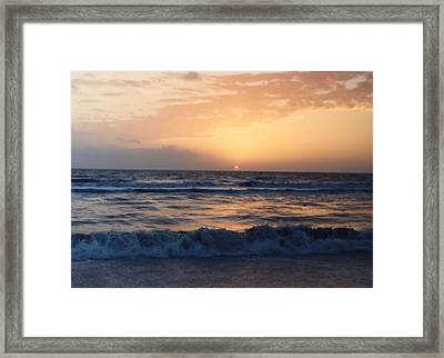 Framed Print featuring the photograph Gulf Coast Sunset by Lynnette Johns