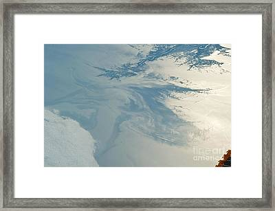 Gulf Of Mexico Oil Spill From Space Framed Print by NASA/Science Source