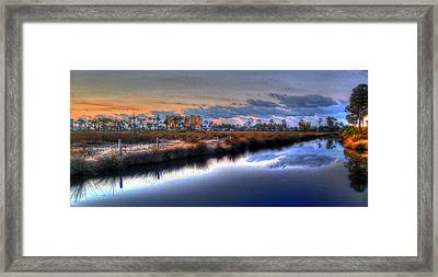 Gulf Shores From The Bayou Framed Print by Michael Thomas