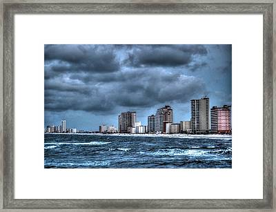 Gulf Shores From The Pier Framed Print