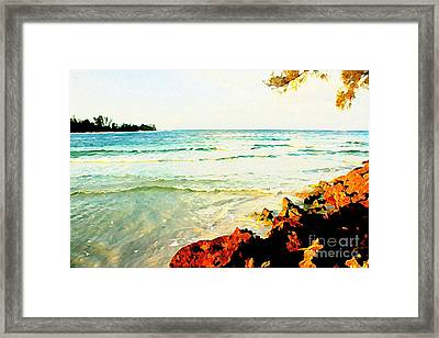 Framed Print featuring the photograph Gulf Shores by Joan McArthur