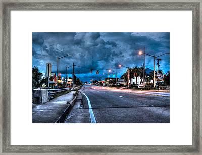 Gulf Shores Mainstreet Framed Print by Michael Thomas