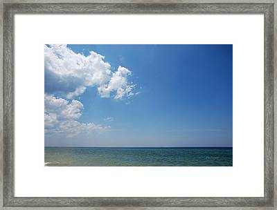 Gulf Sky Framed Print by Kay Lovingood