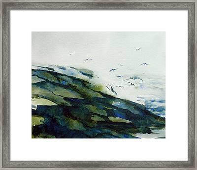 Gull Dance Framed Print