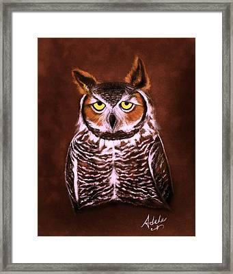 Gullie Framed Print by Adele Moscaritolo