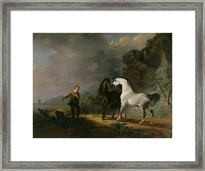 Gulliver Addressing The Houyhnhnms Framed Print by Sawrey Gilpin