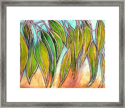 Gum Leaves Framed Print by Dion Dior