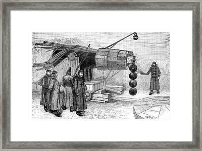 Gun Electromagnet, 19th Century Framed Print by