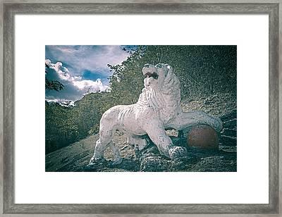 Gun Hill Lion Framed Print
