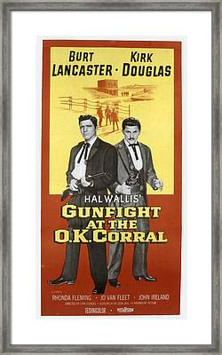 Gunfight At The O.k. Corral, Burt Framed Print by Everett