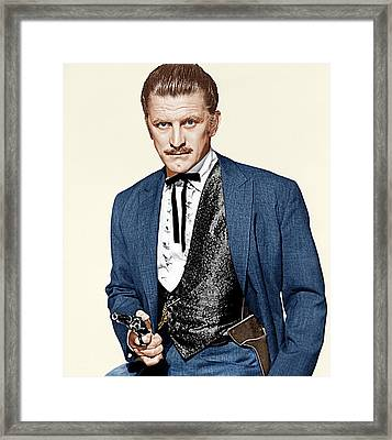 Gunfight At The O.k. Corral, Kirk Framed Print by Everett