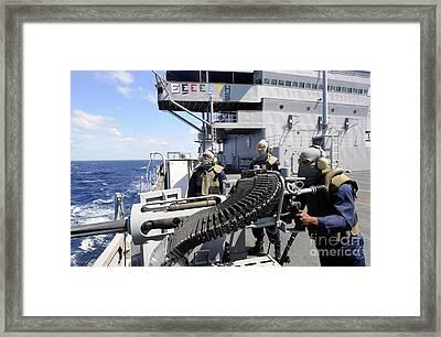 Gunners Mate Manning A 25-mm Machine Framed Print