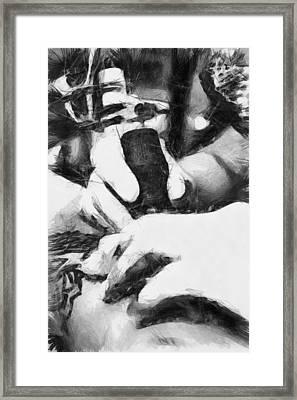 Guns And Ink - Sketch Framed Print