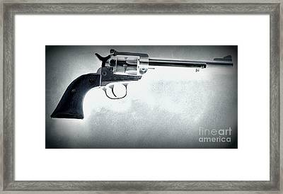 Framed Print featuring the photograph Guns And Leather 3 by Deniece Platt